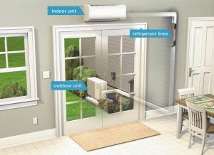 Ductless Mini Split Heat Pump example Photo courtesy of ENERGY STAR
