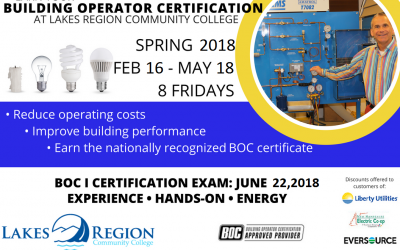 Reduce Facility Energy Costs with BOC I Training at LRCC – Starts this week!