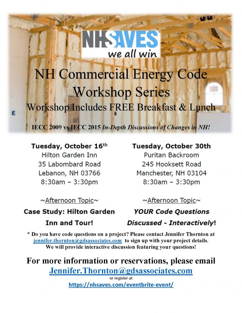 Nhsaves To Host Nh Commercial Energy Code Workshop Series