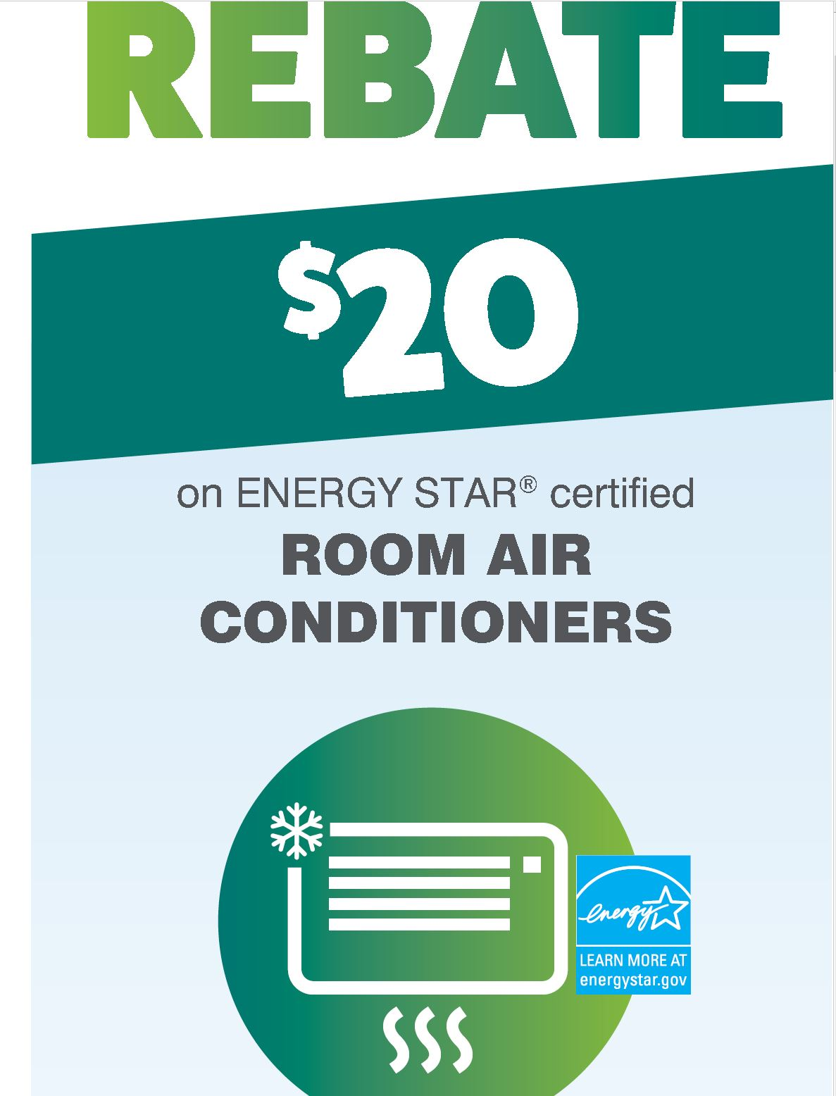 Room Air Conditioner Rebate · Get Rebate!